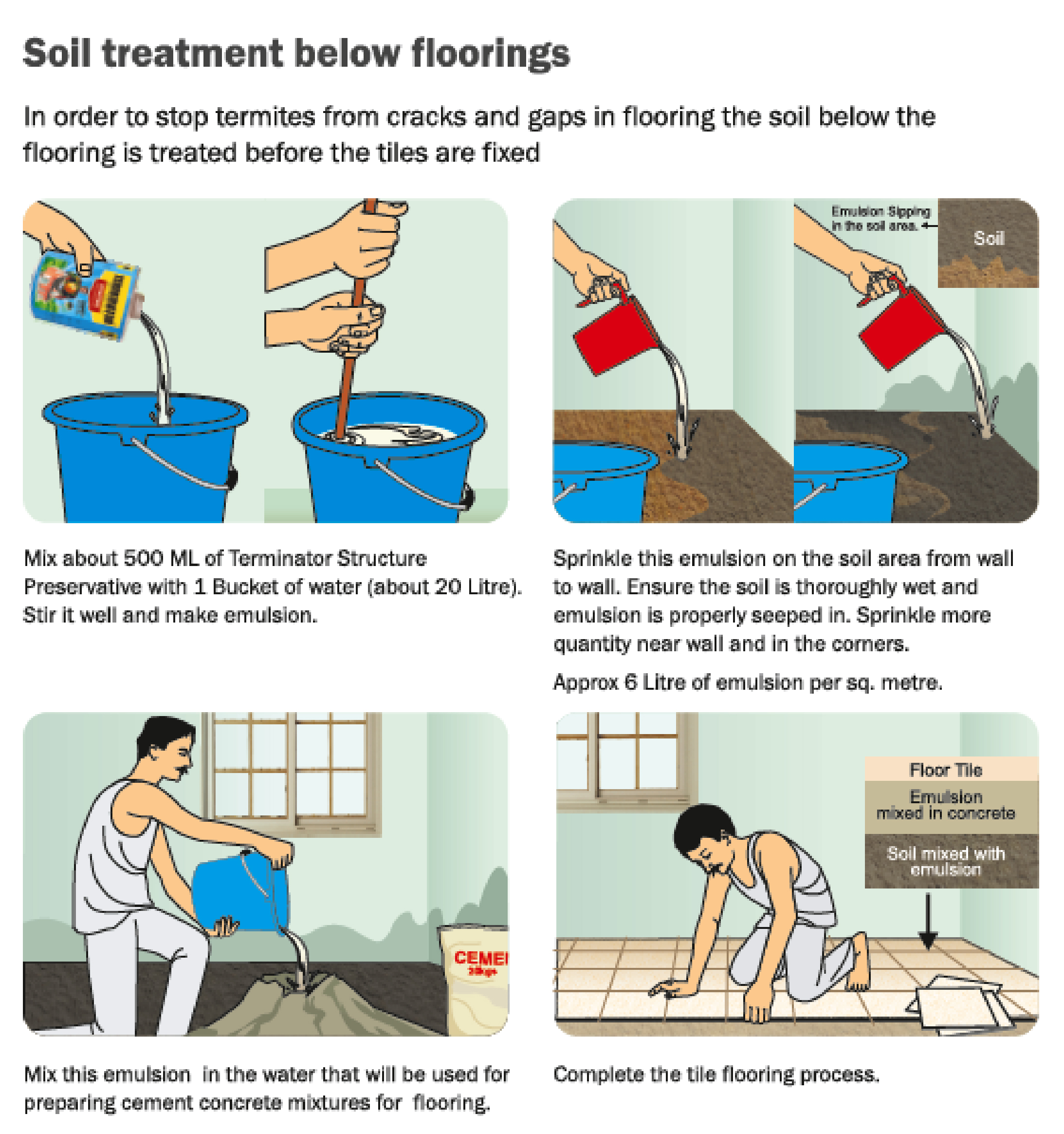 How to use terminator structure preservative end of termites soil treatment in the house solutioingenieria Choice Image